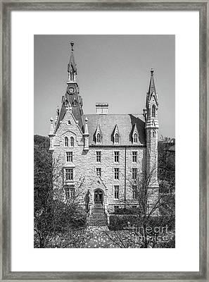 Northwestern University University Hall Full Elevation Framed Print by University Icons