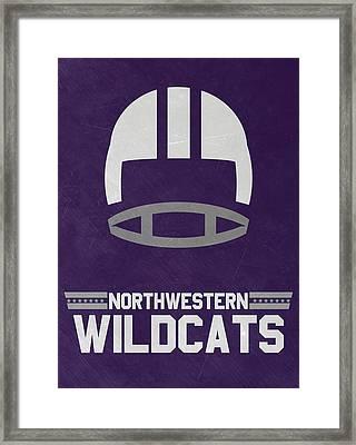 Northwestern Wildcats Vintage Football Art Framed Print