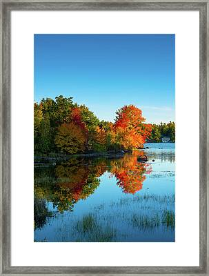 Northwood Lake Autumn Framed Print