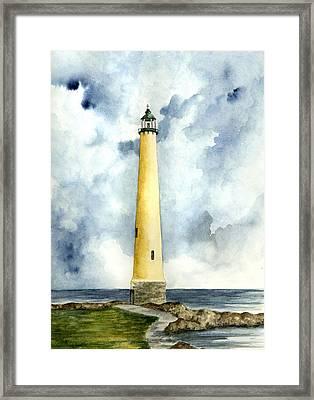 Northwood Lighthouse Framed Print by Michael Vigliotti