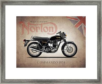 Norton Commando 1974 Framed Print by Mark Rogan