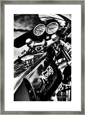 Norton Commando 750 Cafe Racer Framed Print