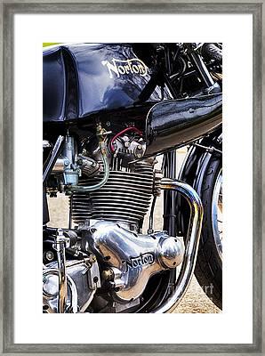 Norton Commando 750cc Cafe Racer Hdr Framed Print