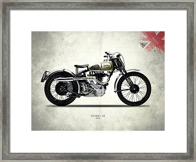 Norton Model 18 Trials 1938 Framed Print by Mark Rogan