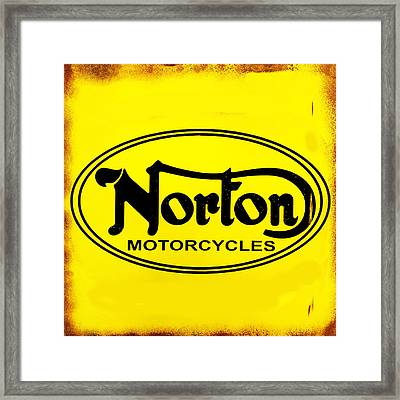 Norton Motorcycles Framed Print by Mark Rogan