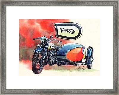 Norton Side Car Framed Print