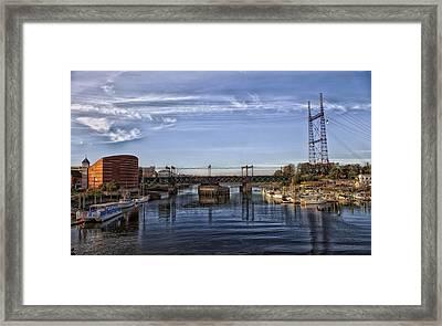 Norwalk Harbor Framed Print