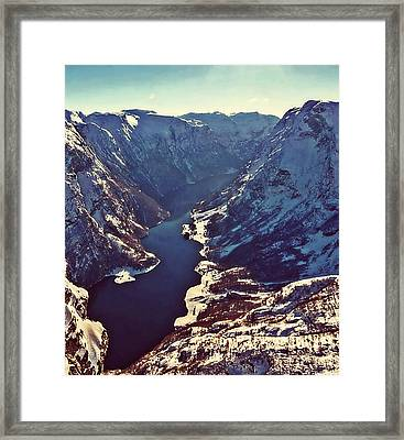 Norway Mountains Framed Print