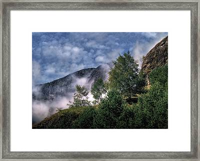 Norway Mountainside Framed Print by Jim Hill
