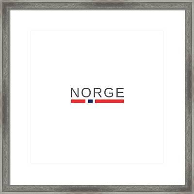 Norway Norge Framed Print