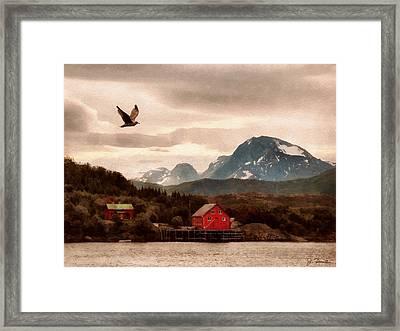 Norwegian Coast No. 5 Framed Print by Joe Bonita