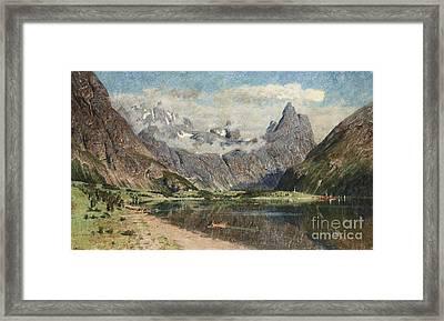 Norwegian Fjord Landscape Framed Print by Celestial Images