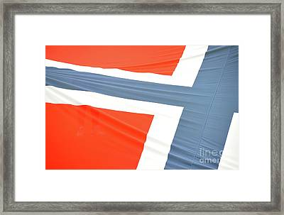 Norwegian Flag Abstract Framed Print