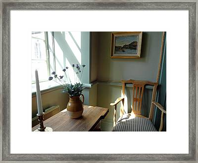 Norwegian Interior #2 Framed Print by Susan Lafleur