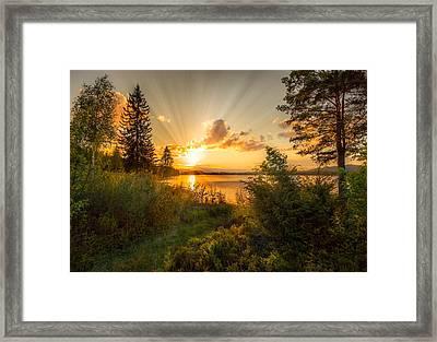 Norwegian Landscape Framed Print