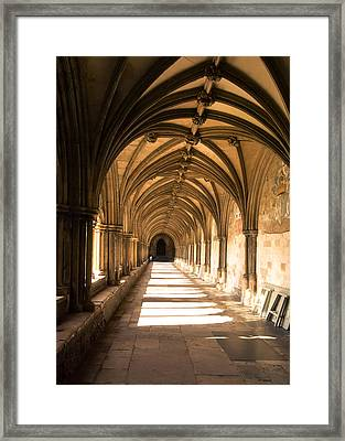 Norwich Cathedral Portico  Framed Print