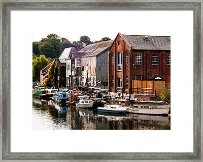 Norwich River Framed Print