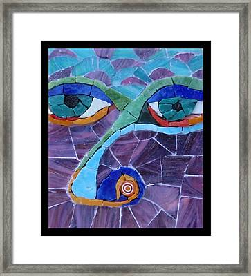 Nose - Fantasy Face No. 17 Framed Print by Gila Rayberg