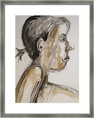 Framed Print featuring the painting Nose Job Nose by Esther Newman-Cohen