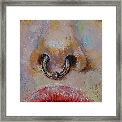 Nose Ring Framed Print