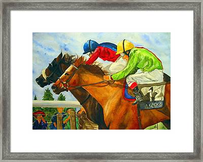 Nose To Nose Framed Print by Jean Blackmer