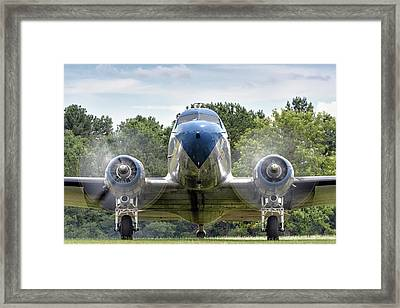 Nose To Nose With A Dc-3 Framed Print