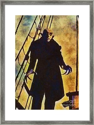 Nosferatu, Classic Vintage Horror Framed Print