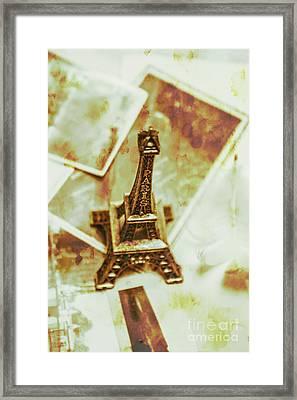 Nostalgic Mementos Of A Paris Trip Framed Print