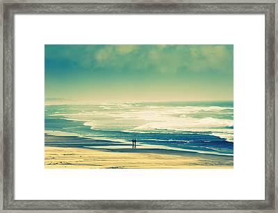 Nostalgic Oceanside Oregon Coast Framed Print