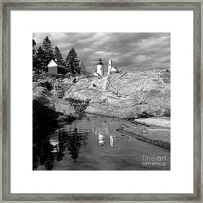 Nostalgic Pemaquid Point Lighthouse Framed Print by Olivier Le Queinec