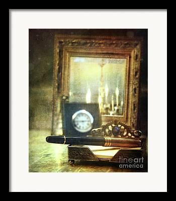 Bedside Table Photographs Framed Prints