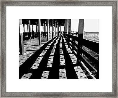 Nostalgic Walk On The Pier Framed Print by Carol F Austin