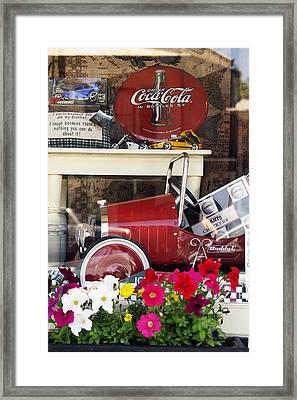 Nostalgic Window Display Framed Print