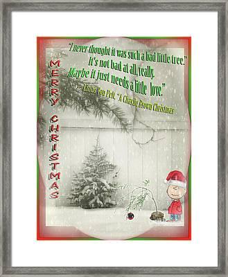 Not A Bad Little Tree Framed Print