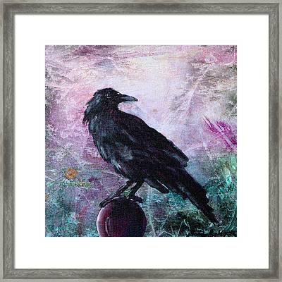 Not A Feather Then He Fluttered Framed Print by Sandy Applegate