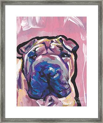 Not A Hippo- Just Hip Framed Print by Lea S