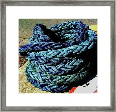 Framed Print featuring the photograph Not A Knot by Cyryn Fyrcyd