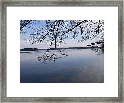 Framed Print featuring the digital art Not A Ripple by Barbara S Nickerson