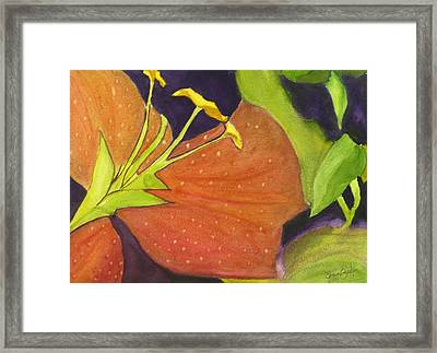 Framed Print featuring the painting Not A Rose by Joan Zepf