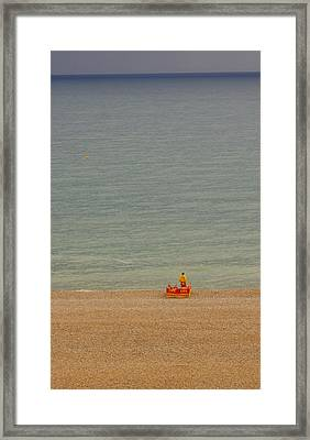 Not A Swimmer In Sight Framed Print by Hilary Burt
