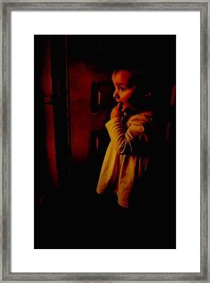 Not Afraid Of The Dark Framed Print
