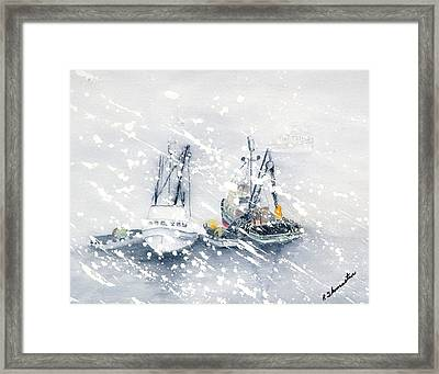Not All Fishing Is Fun Framed Print by Robert Thomaston