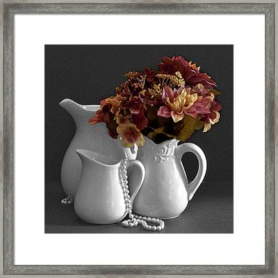 Not All Is Black And White Framed Print
