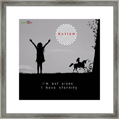 Not Alone Framed Print