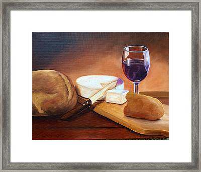 Not By Bread Alone  Framed Print