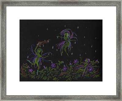 Framed Print featuring the drawing Not Exactly Weather Wanted by Dawn Fairies