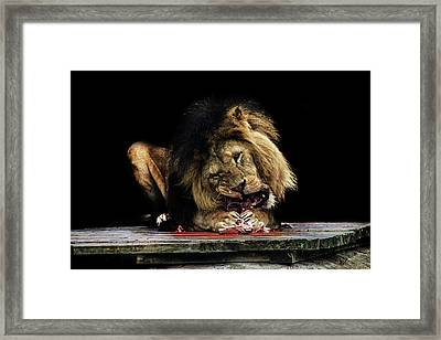 Not For The Faint Hearted Framed Print by Martin Newman