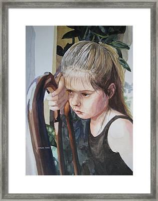 Not In The Mood For Dancing Framed Print by Shirley Braithwaite Hunt