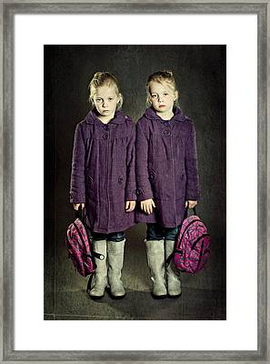 Not In The Mood For School! Framed Print