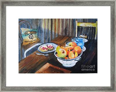 Not Just Tea And Scones - Qcwa Toowoomba 90 Years Framed Print